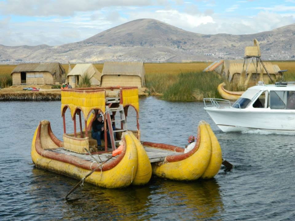 Peru: The Uros tribe's reed boat